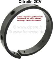 Friction lining in the suspension pot (small suspension pot). Without metal plate. Material: Synthetic. The friction lining is riveted on the metal plate. Suitable for Citroen 2CV. - 12179 - Der Franzose