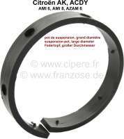 Friction lining in the suspension pot (big suspension pot). Without metal plate. Material: Synthetic. The friction lining is riveted on the metal plate. Suitable for Citroen AK, ACDY, AMI, Azam6. - 12321 - Der Franzose