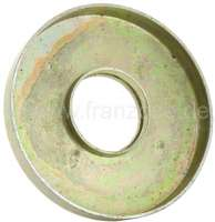 Rubber stop sheet metal plate at the suspension pot (for small suspension pot). Suitable for Citroen 2CV4 + 2CV6. That is only the metal plate, without rubber! - 12181 - Der Franzose