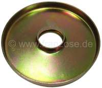 Rubber stop sheet metal plate at the suspension pot (for large suspension pot). Suitable for Citroen AK, AMI, ACDY. That is only the metal plate, without rubber! - 12280 - Der Franzose