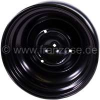 Rim 4Jx15 for 2CV (tubeless), original size. CAUTION: Citroën stopped the rim production. We let produce the rim in the same original quality. Our rim is identically the same as the original rim as far as all production parameters are concerned: material quality, size and surface treatment. Perfect original equipment manufacturer quality! These high quality rims can only be bought from us.  What is an original rim? Our rim is produced in the same factory,on the same machine, with the same material, and exactly according to the same production process as the Citroën rim has been produced in the past. The only difference is that our Company is the current purchaser, not Citroën anymore! That is why our rim is offically approved. A wheel is composed of two parts: the rim and the wheel disc. The rim is built up of butt-welded rolled metal strips. After the roll stand operation which usally consists in 2 roll operation steps the wheel disc gets pressed into the rim. This production method called