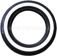 Tire 125/15 with 40mm white wall. Manufacturer Michelin. The white wall is later up-vulcanizes. Delivery time about 2-4 weeks. | 12349 | Der Franzose - www.franzose.de