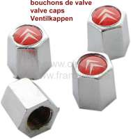 Valve caps for the tire. With Citroen Logo. Set = 4 fittings! - 12312 - Der Franzose