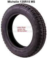 Winter+tire+135R15MS.+Manufacturer+Michelin.+Suitable+for+Citroen+2CV.+Also+very+well+as+all-terrain+tires+for+Citroen+Mehari.