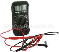 Multimeter digital. Dimension: 74x145x40mm. Measuring range: Volt direct current + alternating current. Ampere, resistance, continuity tester.  Everything what you need, for car electrical connection. | 20147 | Der Franzose - www.franzose.de
