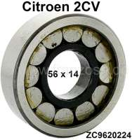 Gearbox bearing for Citroen 2CV. Measurement: 56x14mm. Or. No.: ZC9620224. - 10259 - Der Franzose