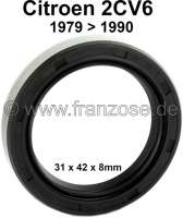 Shaft seal drive shaft at the gearbox. Suitable for Citroen 2CV starting from year of construction 1979. Measurement: 31 x 42 x 8mm. Made in Germany. - 12089 - Der Franzose