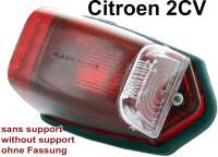Turn signal cap laterally, above at the C-support. Color: Red. Suitable for Citroen 2CV (fifties). Reproduction without test characters. Per piece. - 14067 - Der Franzose
