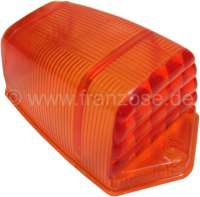 Turn signal cap yellow (completely yellow), without support (Seima 413). Color: Orange. Suitable for Citroen 2CV (fifties). Per piece. Original! -1 - 14091 - Der Franzose