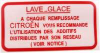 Label for the reservoir, for the windshield washer system. Citroen 2CV, Dyane, AMi, CX, VISA - 16994 - Der Franzose
