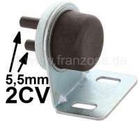 Windscreen washing water hand pump. Reproduction, completely with sheet metal holder for a later mounting! Suitable for Citroen 2CV. In addition, the pump can be universal installed. - 18129 - Der Franzose