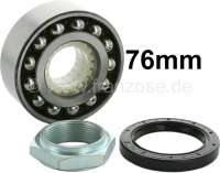 Wheel bearing set rear, suitable for Citroen AK, ACDY, AMi 6+8, AZAM 6. Not suitable for normal 2CV! Measurements: 36 x 76 x 29mm. Good reproduction from the European Union. Made in Spain - 12071 - Der Franzose