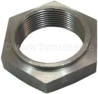 Hub nut rear, 44ties. Suitable for Citroen 2CV, all years of construction. Reproduction, poor quality. Tightening torque: 343-392Nm. - 12197 - Der Franzose
