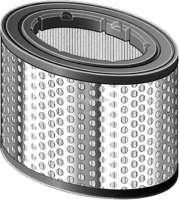 Air filter A973, Citroen AX, BX, ZX, C15, Berlingo, Peugeot 106, 205, 306, 405. Only petrols!  Outside diameter 141mm, inside diameter of 119mm, height of 163mm. - 42317 - Der Franzose
