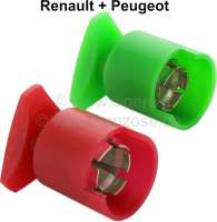 Battery pole, plus + minus (colored in red + green). Suitable for Renault + Peugeot. - 85196 - Der Franzose