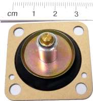 Diaphragm accelerator pump, Citroen BX, AX, Visa with carburetor Solex 32 PBISA 7-8-11-12-13. 34/34 Z1. Peugeot 205 Solex 32 BIS. P. 104 Solex 32 PBISA 7-8-11. Renault R9, R11, R5, R14 Solex 32 BIS + 32 PBISA, Talbot Samba + Horizon 35 BISA8 + 32 BIS. - 72837 - Der Franzose