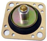 Diaphragm accelerator pump, Peugeot 504 with carburetor Solex 32/35 SEIEA 3, P 104 + 305 35/35 TMIMA + 28/35 CICSA, Renault R5 32 TMIMA, R9 + R14 + R21 32/34 Z2 - 32 BIS - 32/35 TACIC. Citroen BX 14 - Solex 32/34 Z2.  Follower height 12,5mm. Rectangular 36x36mm. - 72840 - Der Franzose