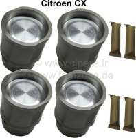 Piston + liner (4 item). Suitable for Citroen CX 2000 Athena/Reflex. Engine: 829 A500/501/A5. Engine capacity: 1955cc. Bore: 88mm. Piston rings: 1,75mm + 2,0mm + 4,0mm. Piston pin: 23x74mm. Outside diameter down: 93,6mm. Outside diameter above: 104mm. Height totally: 140,5mm. - 40416 - Der Franzose