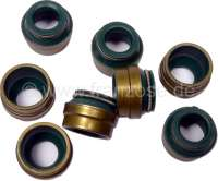 Valve stem seals. Suitable for Peugeot 204, 304, 305, 404, 504, J5, J7. Citroen CX, Renault Super 5, R9, R11, R12, R16, R17, R20, Talbot Horizon, Samba, Simca 1000 + 1100. Petrol (8 pieces). Inlet + exhaust identically constructed. Valve stem: 8,0mm. Guide soupape adm. et éch diameter: 11mm. High: 10mm. - 71042 - Der Franzose
