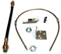 Brake hose conversion kit, at the rear right. Hydraulic system LHS. Suitable for Citroen DS. With this conversion kit can be converted  the rigid brake line on brake hose. | 34115 | Der Franzose - www.franzose.de