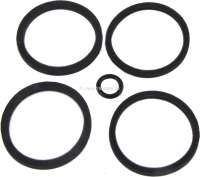 Brake caliper sealing set. Suitable for Citroen SM, starting from year of construction 11/1972. Consisting of: 2x sealing ring 31,5x37,7x2,8mm (GX2510302A). 2x sealing ring 32x37x2,5mm (GX2510202A). 1x sealing ring 7,2x11x1,9mm (24822009W + ZD9482200U). | 33243 | Der Franzose - www.franzose.de