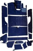 DS Pallas RHD, carpet set 14 pieces, color blue. Suitable for Citroen DS Pallas, right hand drive. High quality. The carpet set is supplied without foam material and without felt mats. | 38371 | Der Franzose - www.franzose.de