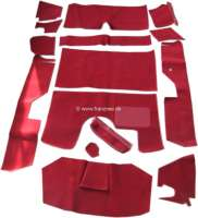DS Pallas, carpet set 14 pieces, for Citroen DS Pallas. Color: red. High quality. The carpets are supplied without foam material and felt mats. -1 - 38292 - Der Franzose