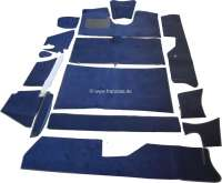DS Pallas, carpet set 14 pieces, for Citroen DS Pallas. Color: dark-blue. High quality. The carpets are supplied without foam material and felt mats. - 38295 - Der Franzose