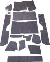 Carpet set, 14 parts, DS-dark grey, for DS which interior trim has been transformed into