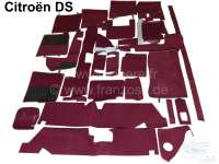 SM, carpet set completely for Citroen SM. Color dark red, similarly as original. 26 pieces! - 38404 - Der Franzose