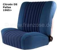 Coverings in front + rear, Citroen DS Pallas, color petrol streaked. (Strips in black). High backrest starting from 1965. | 38331 | Der Franzose - www.franzose.de