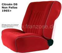 DS Non Pallas, coverings in front + rear, Citroen DS Non Pallas, color dark red. High backrest starting from 1965. The covering is centrically in waffle Design stitched. - 38052 - Der Franzose