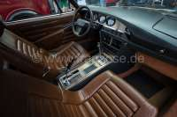 SM, coverings in front and rear, inclusive leather for the door linings.  Color: Leather brown. Suitable for Citroen SM. - 38580 - Der Franzose