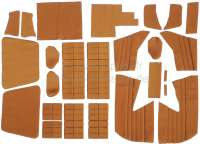 SM, coverings in front + rear. Color: ocher (Caramel). Inclusive material for the door linings. Suitable for Citroen SM, starting from year of construction 07/1972. Consisting of: 36 material sections -1 - 38626 - Der Franzose