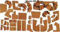 SM, coverings in front + rear. Color: ocher (Caramel). Inclusive material for the door linings. Suitable for Citroen SM, starting from year of construction 07/1972. Consisting of: 36 material sections - 38626 - Der Franzose
