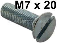 Countersunk screw M7x20, e.g. door hinges Citroen 11CV/15CV - 60341 - Der Franzose