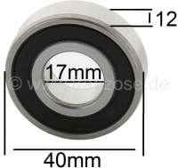 Flywheel bearing, suitable for Citroen 11CV, 15CV, + Citroen HY. Dimension: 17 x 40 x 12mm. - 48018 - Der Franzose