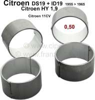 Connecting rod bearing (complete set). Suitable for Citroen ID19, DS19 to year of construction 1965. Citroen HY of 1,9 petrols. Citroen 11CV. Reproduction. Dimension: 0.50 oversize. For 47,50mm crankshaft. - 30055 - Der Franzose