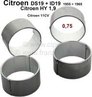 Connecting rod bearing (complete set). Suitable for Citroen ID19, DS19 to year of construction 1965. Citroen HY of 1,9 petrols. Citroen 11CV. Reproduction. Dimension: 0.75 oversize. For 47,25mm crankshaft. - 30056 - Der Franzose