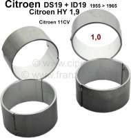 Connecting rod bearing (complete set). Suitable for Citroen ID19, DS19 to year of construction 1965. Citroen HY of 1,9 petrols. Citroen 11CV. Reproduction. Dimension: 1,00 oversize. For 46,00mm crankshaft. - 30057 - Der Franzose