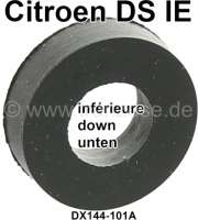 Fuel injection nozzle rubber down (small rubber), suitable for Citroen DS21 IE + DS23 IE.  Dimension: 7.4 x 14.6 x 4,5mm. Or. No. DX144101A - 30214 - Der Franzose