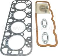Cylinder head gasket set for Indenor Diesel. For engine: TMD85, XDP85, TMD85-AD, XPD (1816cc). Suitable for Citroen HY Diesel. Peugeot 403 Diesel, 404 Diesel, 504 Diesel, J7 Diesel. Heavy one: 0,6mm. Or. No. 0199.48 - 71132 - Der Franzose