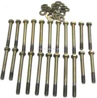Cylinder head screw set completely. Peugeot 404D + 504D, J7D, Citroen HY Diesel. For diesel engine XD88 + XD90. Consisting of: 8 x M11x91 outer hexagonal. 7 x M11x108 outer hexagonal. 7 x M11x118 outer hexagonal. - 71242 - Der Franzose