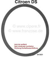 Seal under the crankcase ventilation on the engine block (flat ring rubber). Suitable for Citroen DS. Or. 5412031. Made in Germany. - 30385 - Der Franzose
