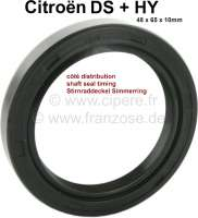 Shaft seal in valve timing cover, suitable for DS + HY. Measurements: 48 x 65 x 10mm. - 30341 - Der Franzose