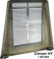 Bonnet (nwe model). Suitable for Citroen HY, starting from year of construction 09/1964. The bonnet is a combination made of GRP and metal. With upper hinge and lower latching. Or. No. HY852-01B -1 - 44921 - Der Franzose