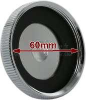 Radiator cap chromium-plates, with seal. For 60mm thread diameter. Suitable for Citroen 11CV, HY. Peugeot 203 + 403 -1 - 60818 - Der Franzose