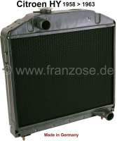 Radiator (in the exchange), suitable for Citroen HY, from year of construction 1958 to 1963. Made in Germany. The radiator is completely dismantled and cleaned. Radiator glass blasting, radiator core renew, radiators checked for tightness and radiators completely painted. Plus 250 Euro Old part deposit. | 48338 | Der Franzose - www.franzose.de