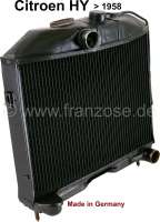 Radiator (in the exchange), suitable for Citroen HY petrol, to year of construction 1958. Made in Germany. The radiator is completely dismantled and cleaned. Radiator glass blasting, radiator core renew, radiators checked for tightness and radiators completely painted. Plus 250 Euro Old part deposit. | 48339 | Der Franzose - www.franzose.de