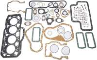Engine gasket set (inclusive cylinder head gasket 1,5mm) Diesel. Suitable for engines: XD88, XDP88-BD, XDP88-BDS, XD90 (1948ccm). Bore: 94mm. Suitable for Peugeot 404 D, 504 D, J7 Diesel. Citroen HY Diesel. Installed from year of construction 1963 to 1975. Inclusive shaft seals. Or. No. 0198.14 - 71134 - Der Franzose